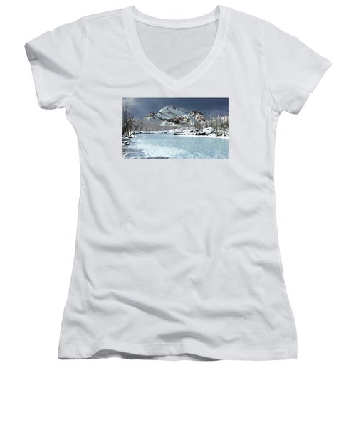 The Courtship Of Ice Women's V-Neck