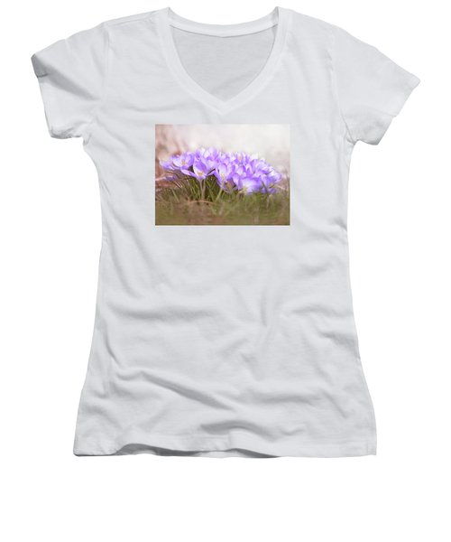 The Earth Blooms 2 Women's V-Neck