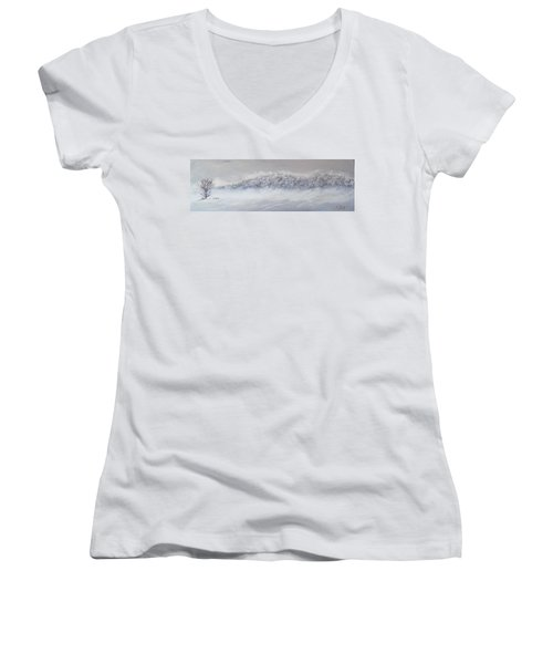 The Front Of Cold Women's V-Neck