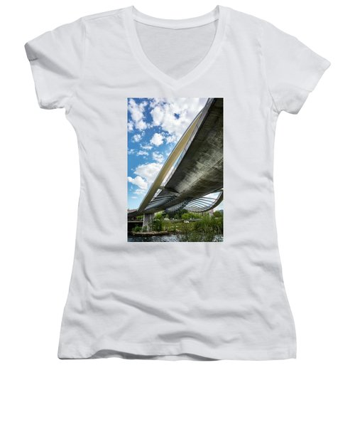 The Millennium Bridge From Below Women's V-Neck