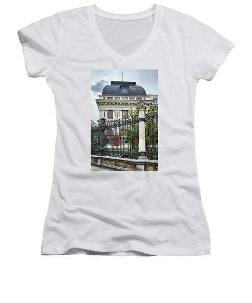 Women's V-Neck featuring the photograph The Ministry Of Agriculture, Fisheries, Food And Environment In Madrid by Eduardo Jose Accorinti