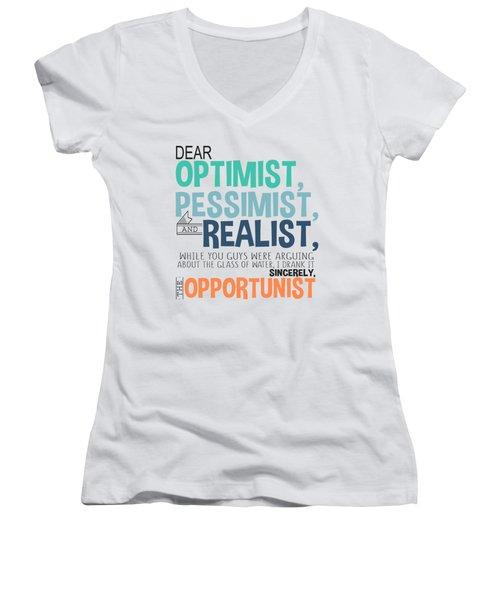 The Opportunist Women's V-Neck