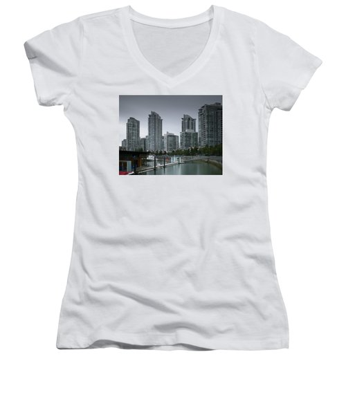 The Quayside Marina - Yaletown Apartments Vancouver Women's V-Neck