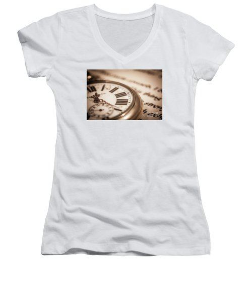 Time And Words Women's V-Neck