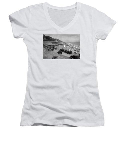 Topanga State Beach 1920 Women's V-Neck