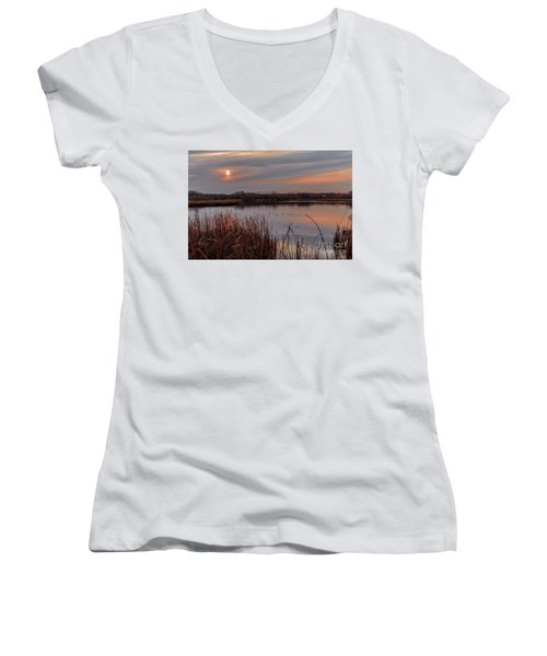 Tranquil Sunset Women's V-Neck