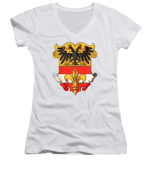 Triest Coat Of Arms 1467-1919 Women's V-Neck