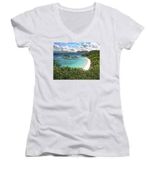 Trunk Bay Women's V-Neck
