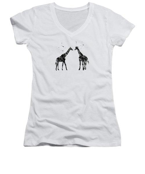 Two Giraffes Women's V-Neck