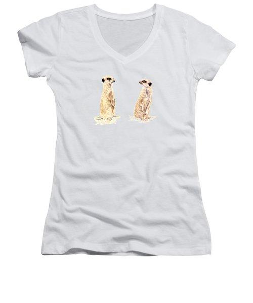 Two Meerkats Women's V-Neck