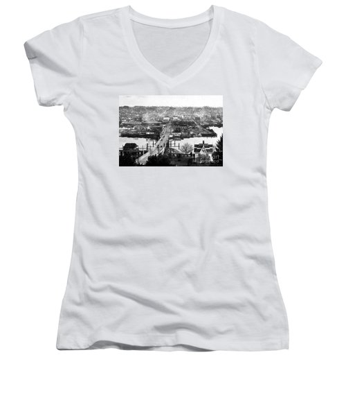 View East Over Olympia 1921 Women's V-Neck