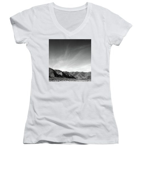 Wainui Hills Squared In Black And White Women's V-Neck