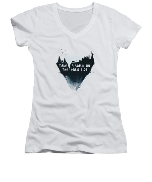 Walk On The Wild Side  Women's V-Neck (Athletic Fit)
