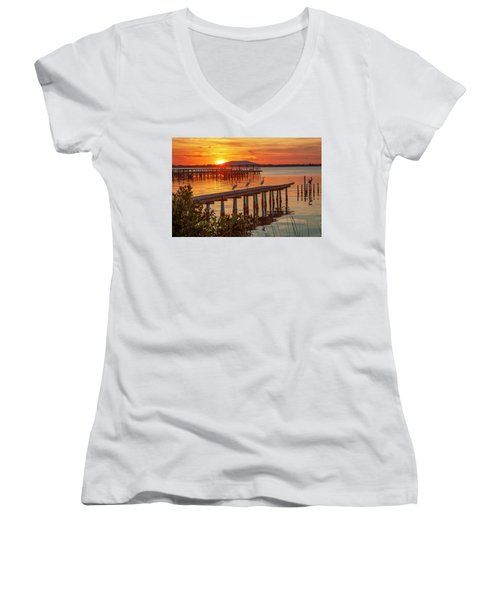 Watching The Sunset Women's V-Neck