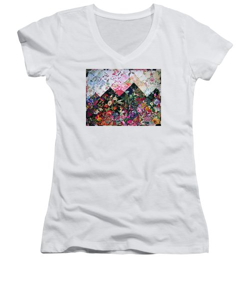 Watercolor Sunset Women's V-Neck