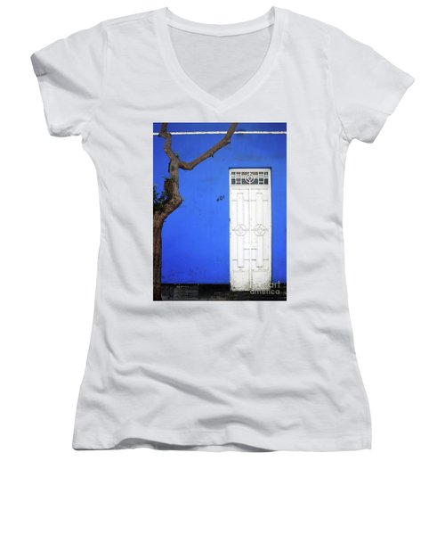 When A Tree Comes Knocking Women's V-Neck