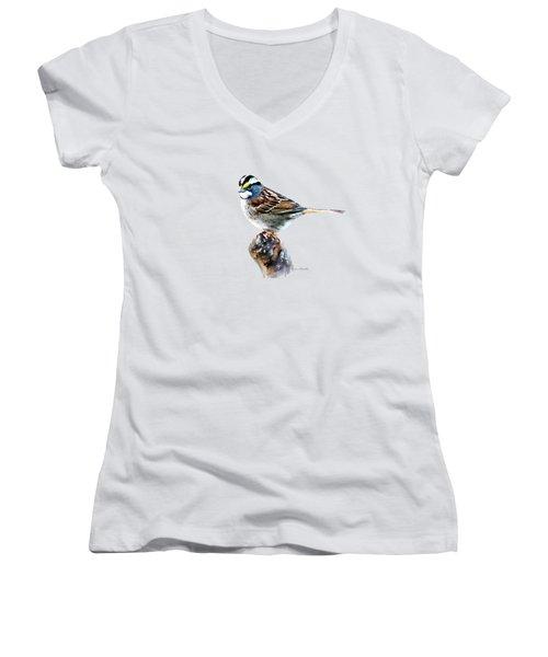 White-throated Sparrow Women's V-Neck
