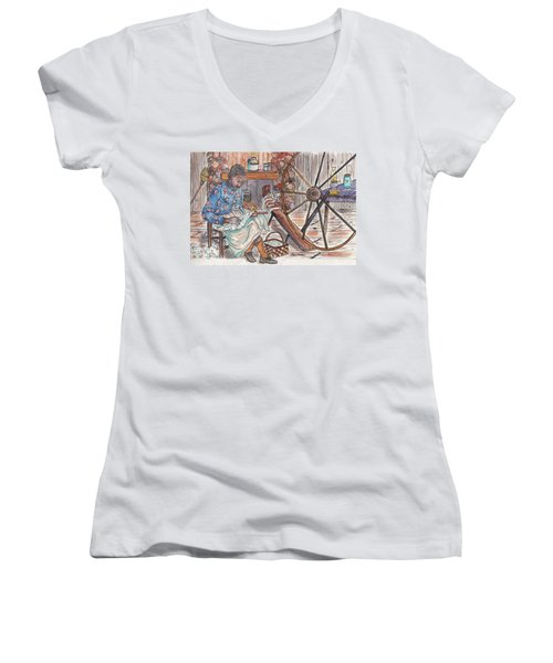 Working Cotton The Old Fashioned Way Women's V-Neck