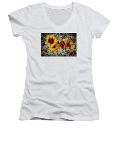 Yellow Wildflowers Women's V-Neck