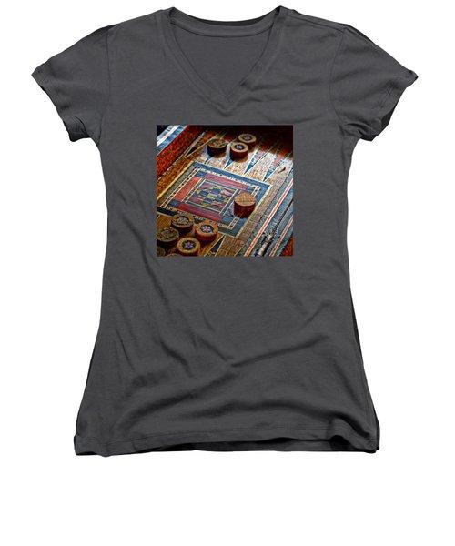 Backgammon Women's V-Neck (Athletic Fit)