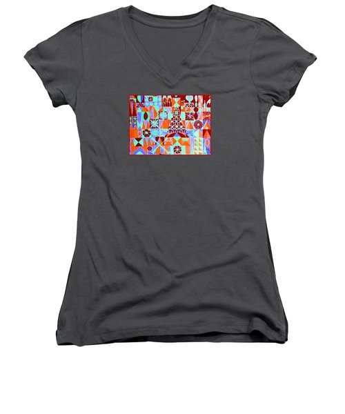 Fortress Women's V-Neck T-Shirt (Junior Cut) by Beth Saffer
