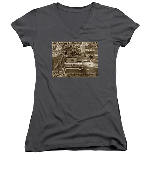 Neptune Beach Olympic Size Swimming Pool And A Roller Coaster Alameda Circa 1920 Women's V-Neck