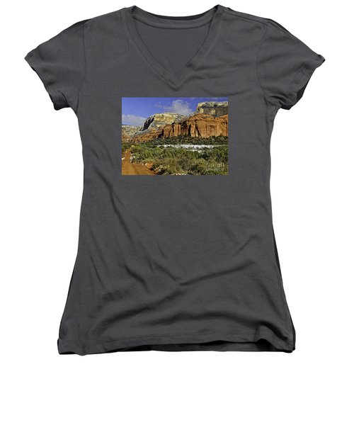 Red Rock-secret Mountain Wilderness Women's V-Neck