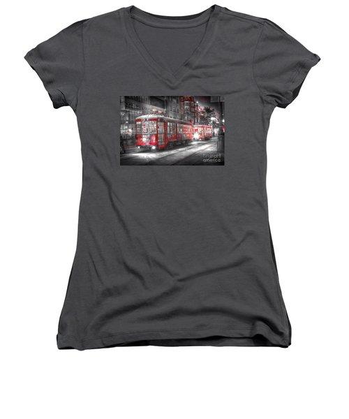 0271 New Orleans Street Car Women's V-Neck
