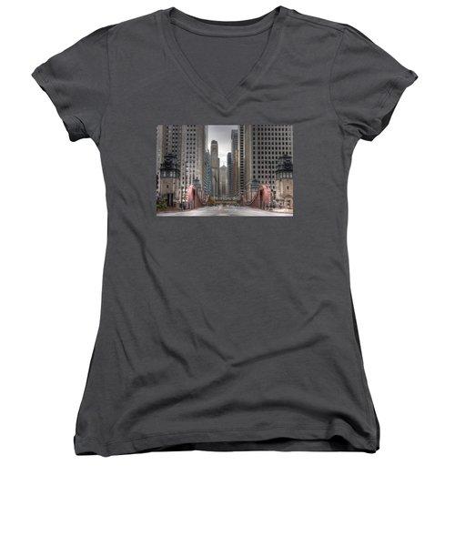 0295 Lasalle Street Chicago Women's V-Neck