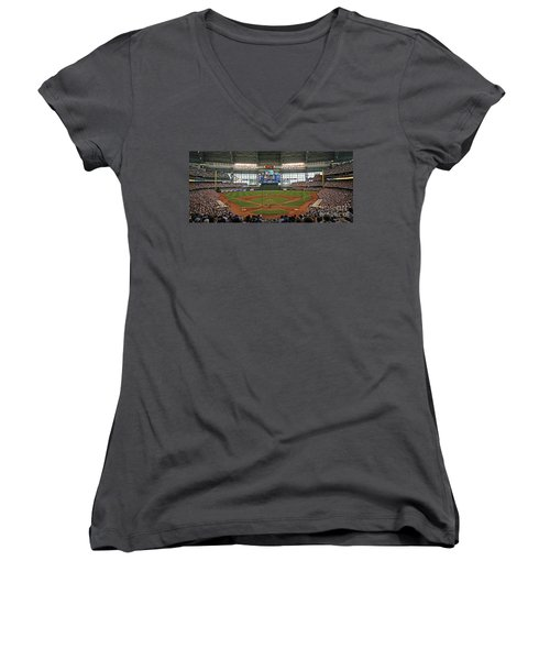 0613 Miller Park Women's V-Neck T-Shirt (Junior Cut) by Steve Sturgill