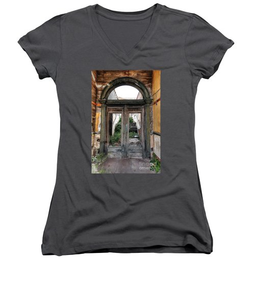 0707 Jerome Ghost Town Women's V-Neck