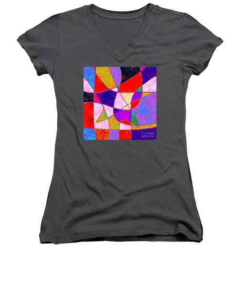 0269 Abstract Thought Women's V-Neck T-Shirt