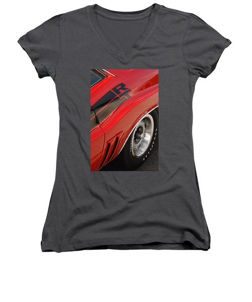 1970 Dodge Challenger R/t Women's V-Neck (Athletic Fit)