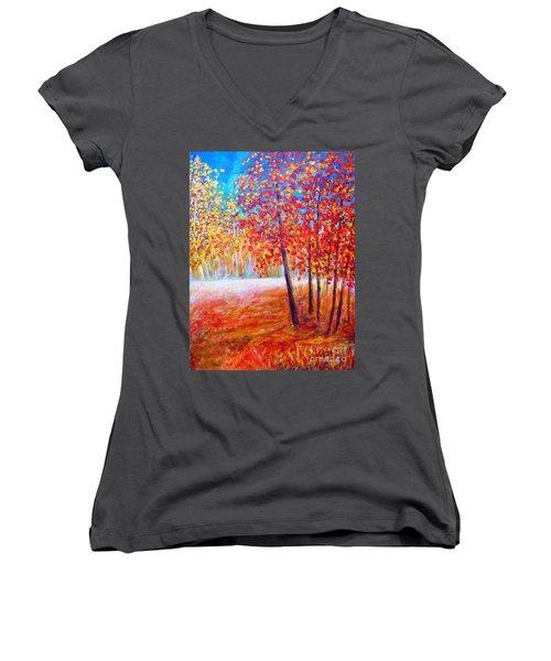 Autumn Women's V-Neck