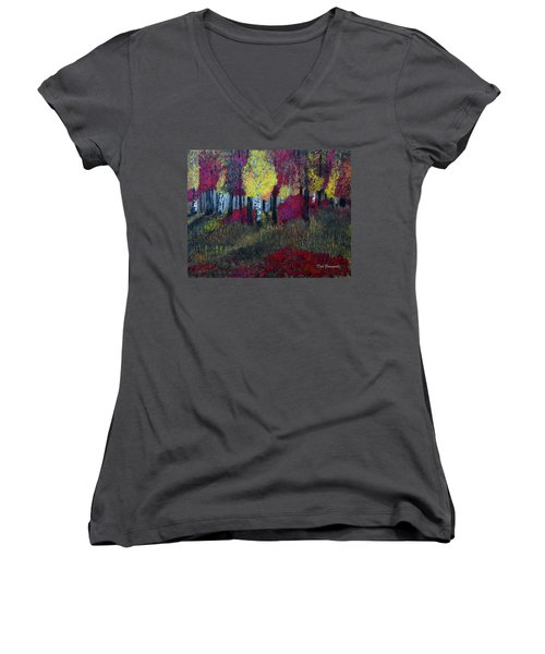 Autumn Peak Women's V-Neck T-Shirt