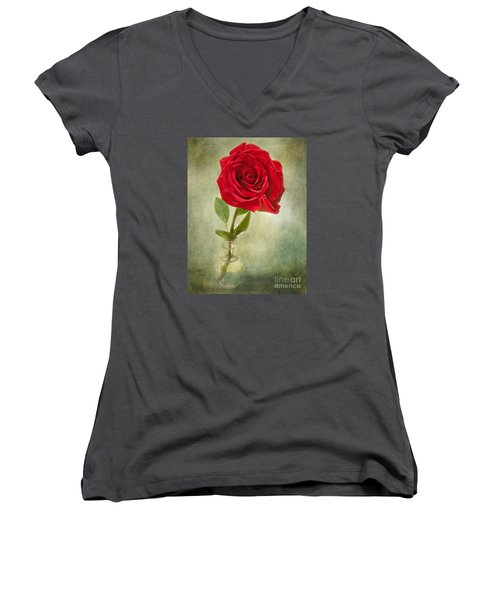 Beautiful Rose Women's V-Neck T-Shirt