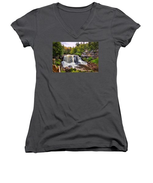 Blackwater Falls Sp Women's V-Neck (Athletic Fit)
