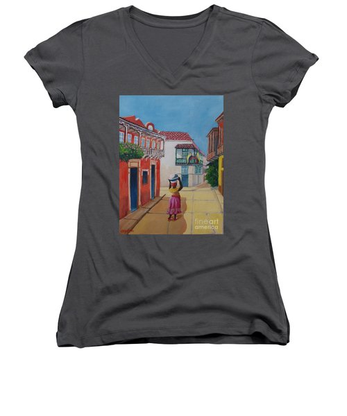 Cartagena Seller Women's V-Neck T-Shirt