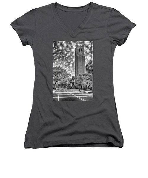 Women's V-Neck featuring the photograph Century Tower  by Howard Salmon