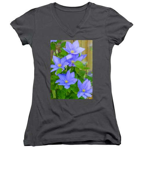 Clematis  Women's V-Neck
