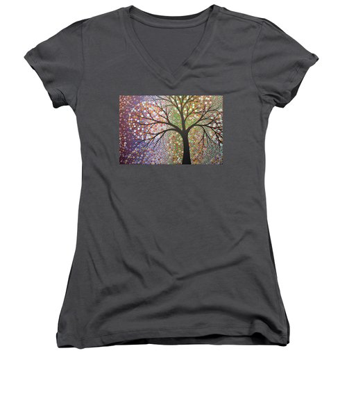 Constellations Women's V-Neck T-Shirt (Junior Cut) by Amy Giacomelli