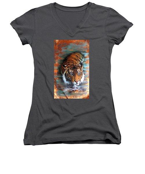 Copper Tiger II Women's V-Neck T-Shirt