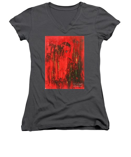 Dantes Inferno Women's V-Neck T-Shirt (Junior Cut) by Roberto Prusso