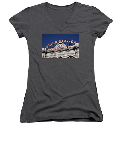 Denver - Union Station Women's V-Neck