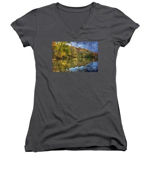 Fall Reflections Women's V-Neck T-Shirt