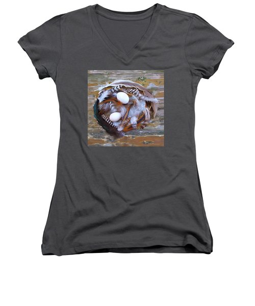 53. Feather Wreath Can Be Ordered Women's V-Neck