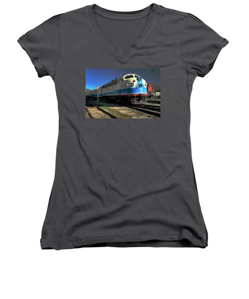Women's V-Neck T-Shirt (Junior Cut) featuring the photograph Fillmore 100 by Michael Gordon