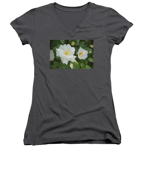Floral Beauty Women's V-Neck