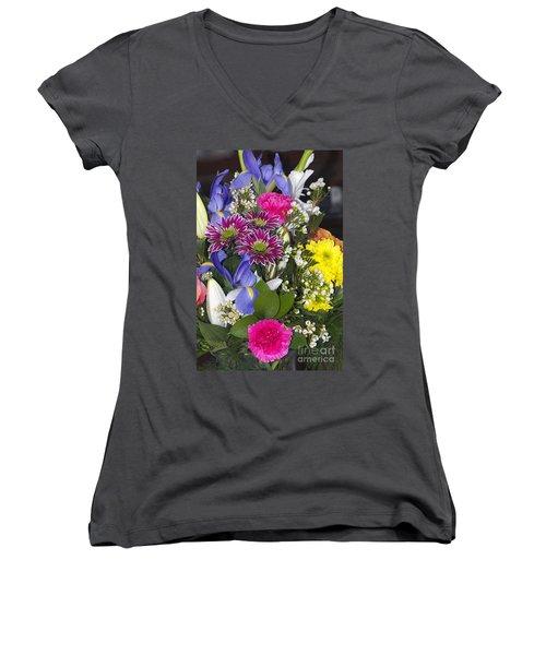 Floral Bouquet 2 Women's V-Neck (Athletic Fit)