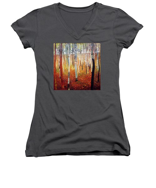 Forest Of Beech Trees Women's V-Neck